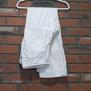 100% organic white linen wide leg pants